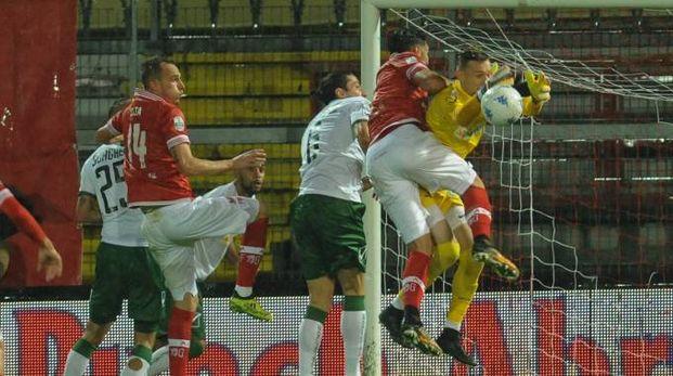 Perugia-Avellino, un'azione del match (Crocchioni)