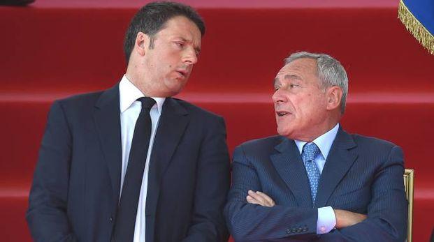 Matteo Renzi e Pietro Grasso (Imagoeconomica)