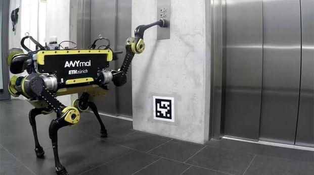 Il robot ha imparato a prendere l'ascensore (Foto Robotic Systems Lab)