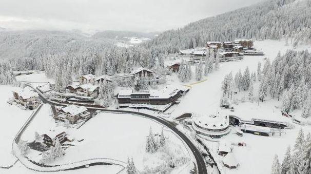 Previsioni meteo, pioggia e neve da Nord a Sud. Nella foto Obereggen, Bolzano (Ansa)