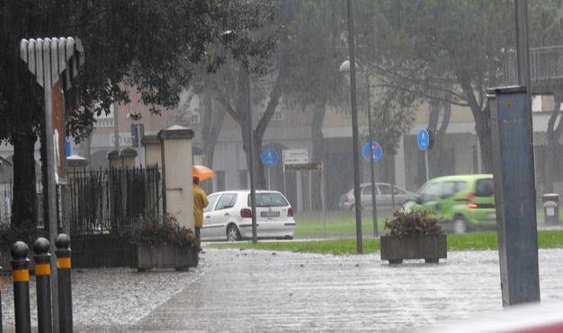 Piazza dell'Unità d'Italia a Voltana (Foto Scardovi)