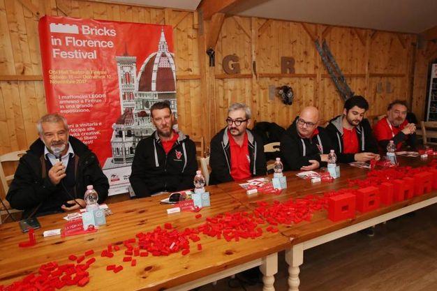 Presentazione del Bricks in Florence Festival, i mattoncini Lego arrivano a Firenze. Gianluca Cannalire, Nico Mascagni, Maurizio Orrigo (Marco Mori/ New Press Photo)