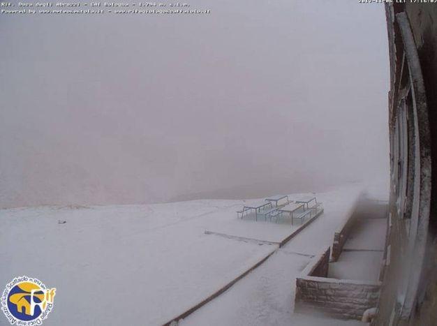 Neve anche sugli Appennini. Lago Scaffaiolo, Fanano, Modena (Webcam)
