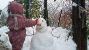 Primo pupazzo di neve (Foto Vanoni)