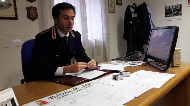 Il capo della squadra mobile Andrea Crucianelli