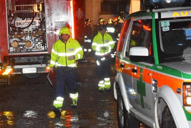 Non c'è stato nulla da fare per Pierina Casotti, la donna di 82 anni morta nell'incendio della sua abitazione a Salvarano di Quattro Castella (Foto Artioli)