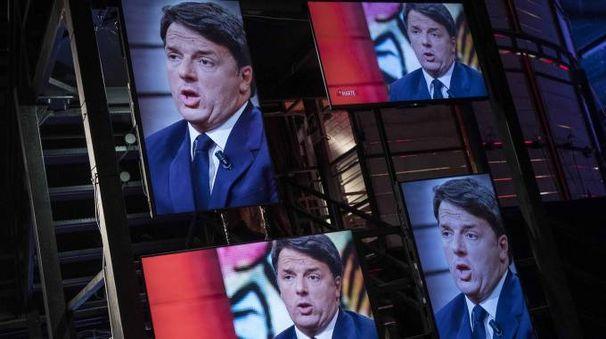 Matteo Renzi a 'DiMartedì' su La7 (LaPresse)