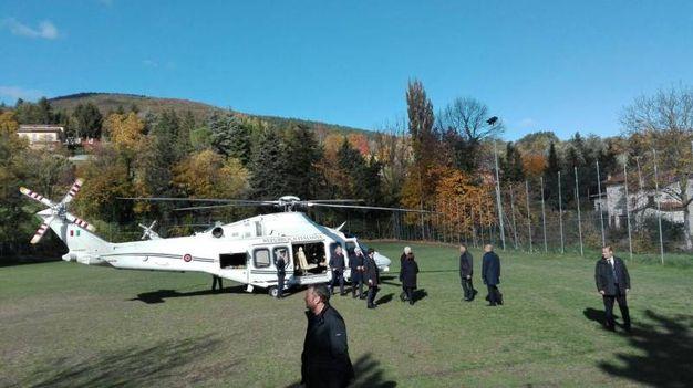 L'elicottero è appena atterrato