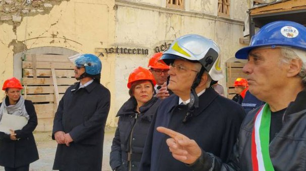 Sergio Mattarella a Visso