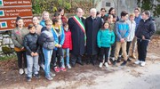 Mattarella con gli studenti e il sindaco di Castelsantangelo