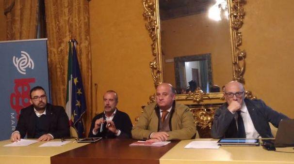 Da sinistra Scaramuccia, Alleruzzo, Sabatini e Grassetti
