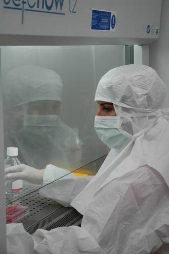 Biologo al lavoro (© CMR Unimore)