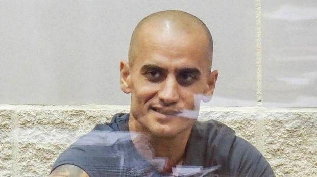 Dritan Demiraj prima dell'aggressione in carcere