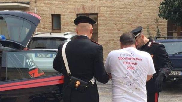 L'uomo venne arrestato dai carabinieri