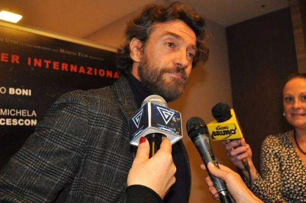 Alessio Boni intervistato per il film La ragazza nella nebbia (Foto Concolino)