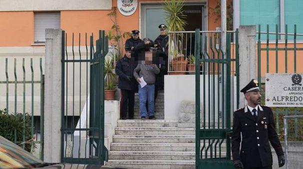 Uno degli arresti effettuati nell'ambito della retata anti droga (Foto Zeppilli)