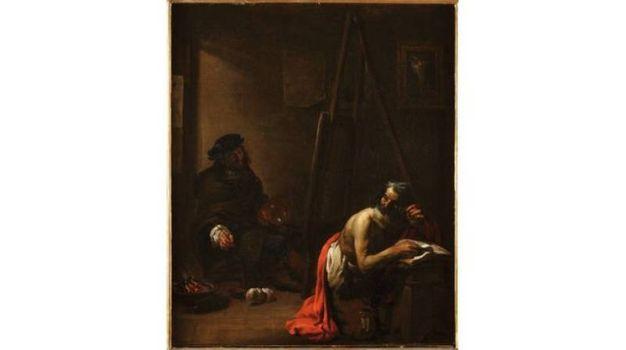 Michelangelo Cerquozzi - Autoritratto nello studio