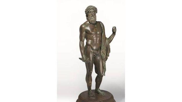 Arte romana - Statuetta di Giove in maesta (Zeus tipo Firenze)