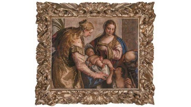 Paolo Veronese - Sacra Famiglia con San Giovannino e Santa Caterina (o Santa Barbara)