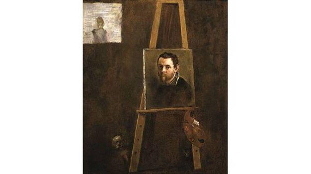 Annibale Carracci - Autoritratto al cavalletto