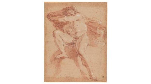 Gian Lorenzo Bernini - Figura maschile nuda con mantello