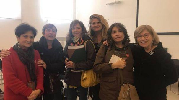 Maria Cristina Marchesini di Libera, Alba Piolanti di UDI, Valeria Betti e Barbara Fornasa