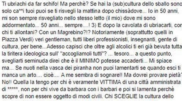 Lo screenshot del post di don Lorenzo Guidotti (Ansa)