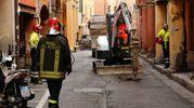 Fuga di gas stamattina in pieno centro (foto Schicchi)