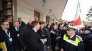 Renzi in stazione (foto Donzelli)