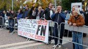 I contestatori di Forza Nuova (foto Donzelli)