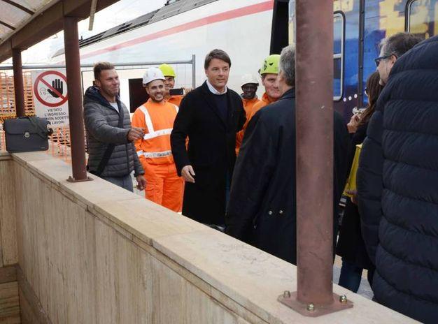 Matteo Renzi, breve tappa rodigina (foto Donzelli)