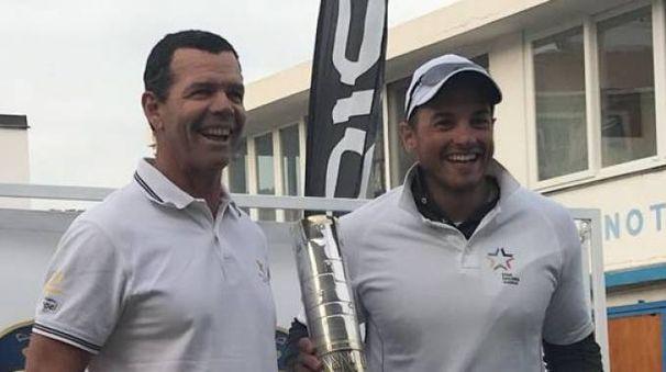 Torben Grael e Arthur Lopes sul podio a Sanremo