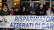 Striscioni di protesta (foto Businesspress)