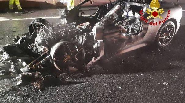 Incidente Ferrari sull'A8