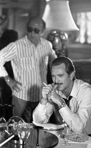 """Sul set del film di Rai1 """"Uomo contro uomo"""" del 1988 (Anas)"""