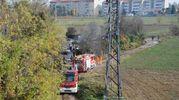 Incendio al campo rom
