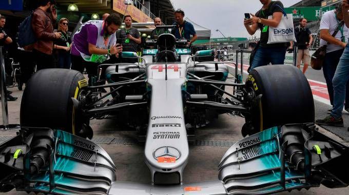 Lewis Hamilton a Interlagos (Afp)