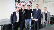 Matteo Renzi al World Circuit di Misano nella Riders Land con Luca Colaiacovo, Andrea Albani e Cicchetti (foto Petrangeli)