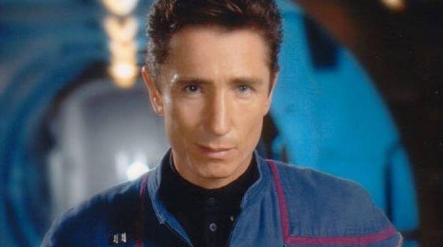 L'attore Dominic Keating in una puntata di Star Trek Enterprise