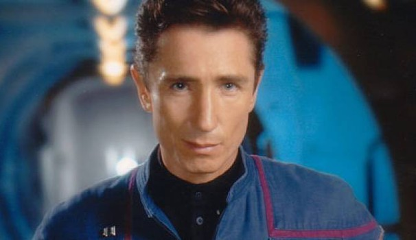 L'attore Dominic Keating in una puntata di Star Trek Enterprise