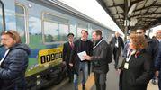 Prosegue la campagna in giro per l'Italia dell'ex premier (foto Frasca)