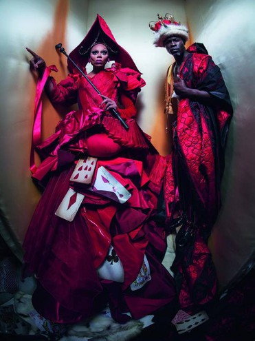 QUEEN AND KING OF HEARTS – RUPAUL AND DJIMON