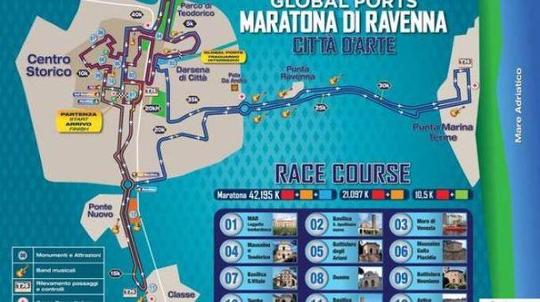 Il percorso della Maratona di Ravenna
