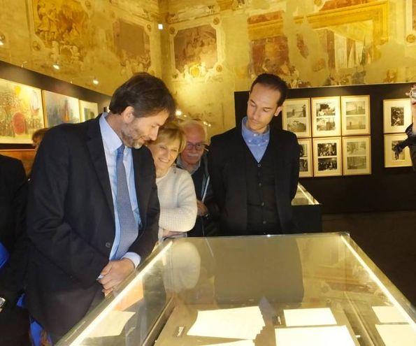 La visita alla mostra (foto Lecci)