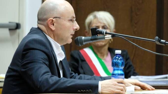 Roberto Raffoni durante l'udienza in tribunale (foto Frasca)