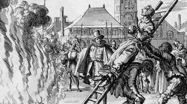 Fu impiccata e il suo corpo arso in piazza Vetra  il 4 marzo 1617