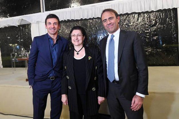 Oscar di Montigny, Lucia Gazzotti e Andrea Cangini (foto Radogna)