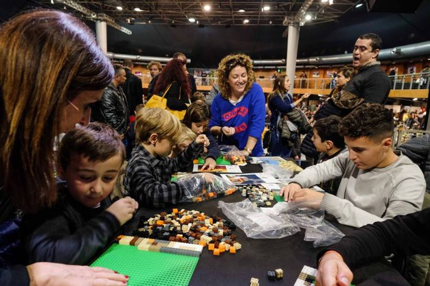 'Bricks in Florence Festival' (Giuseppe Cabras/New Press Photo)