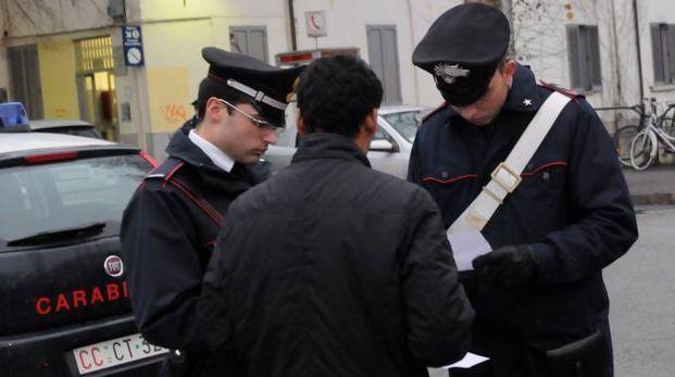 Il fermo dei carabinieri
