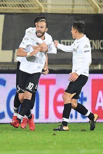 Spezia-Frosinone 1-1, le foto della partita (LaPresse)